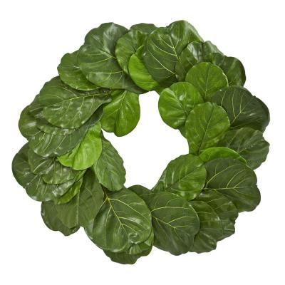 Fiddle Leaf 30 in. Artificial Wreath