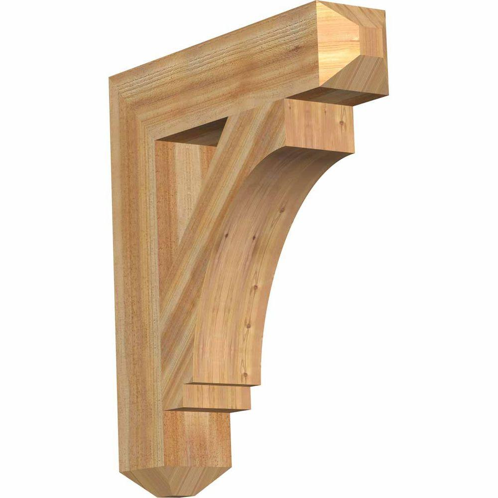 Ekena Millwork 6 in. x 32 in. x 28 in. Western Red Cedar Imperial Craftsman Rough Sawn Bracket