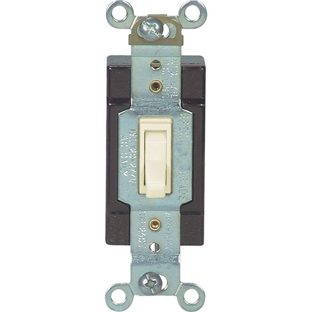 Eaton 15 Amp 4-Way Switch with Industrial Cam Action, Ivory