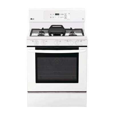 5.4 cu. ft. Gas Range with Even Jet Fan Convection Oven in White