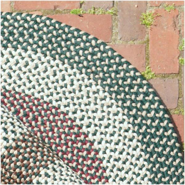 Colonial Mills Brook Farm Winter Green 3 Ft X 5 Ft Indoor Outdoor Oval Braided Area Rug Bf62r036x060 The Home Depot