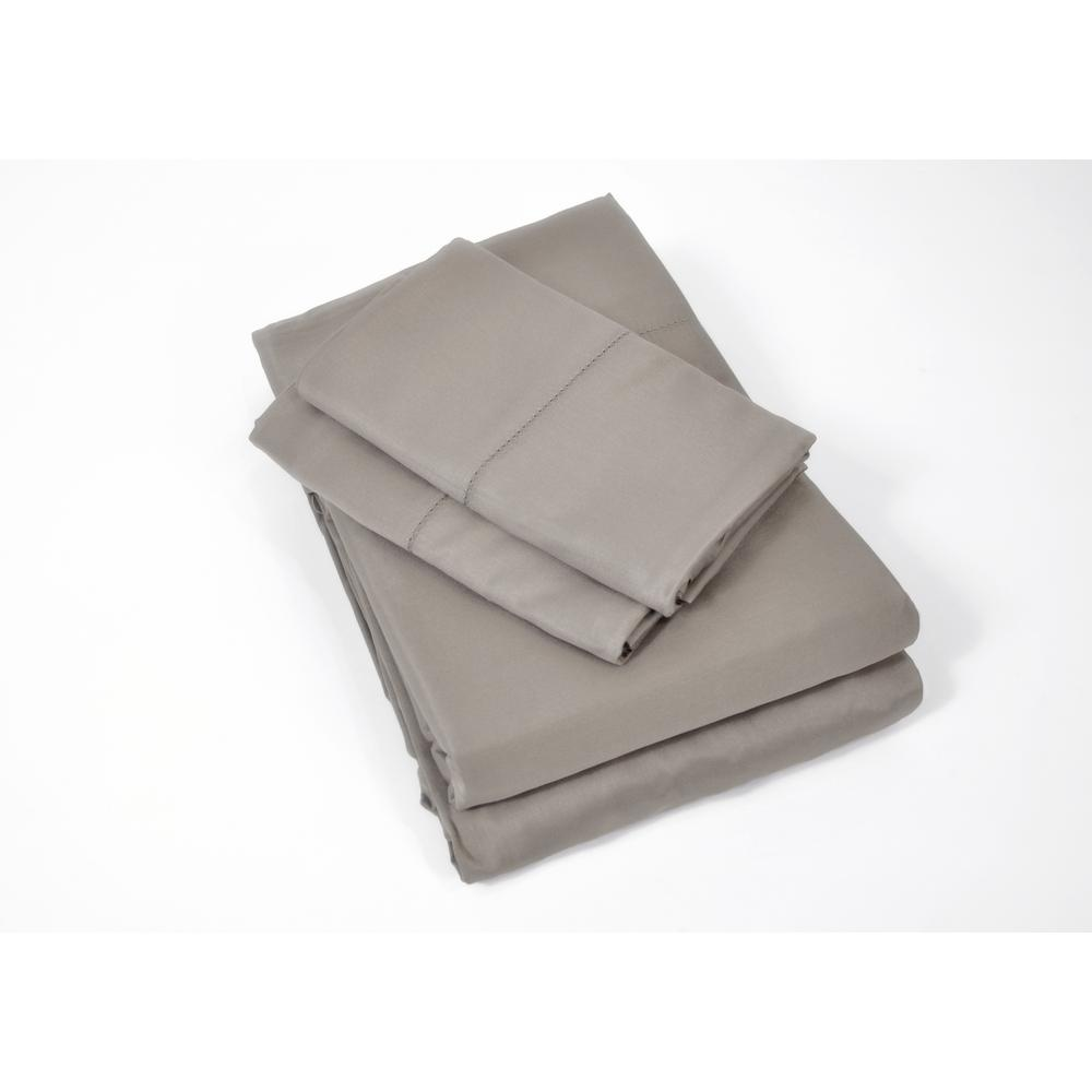 Caro Home 100 Rayon From Bamboo Black Pearl Queen Sheet Set