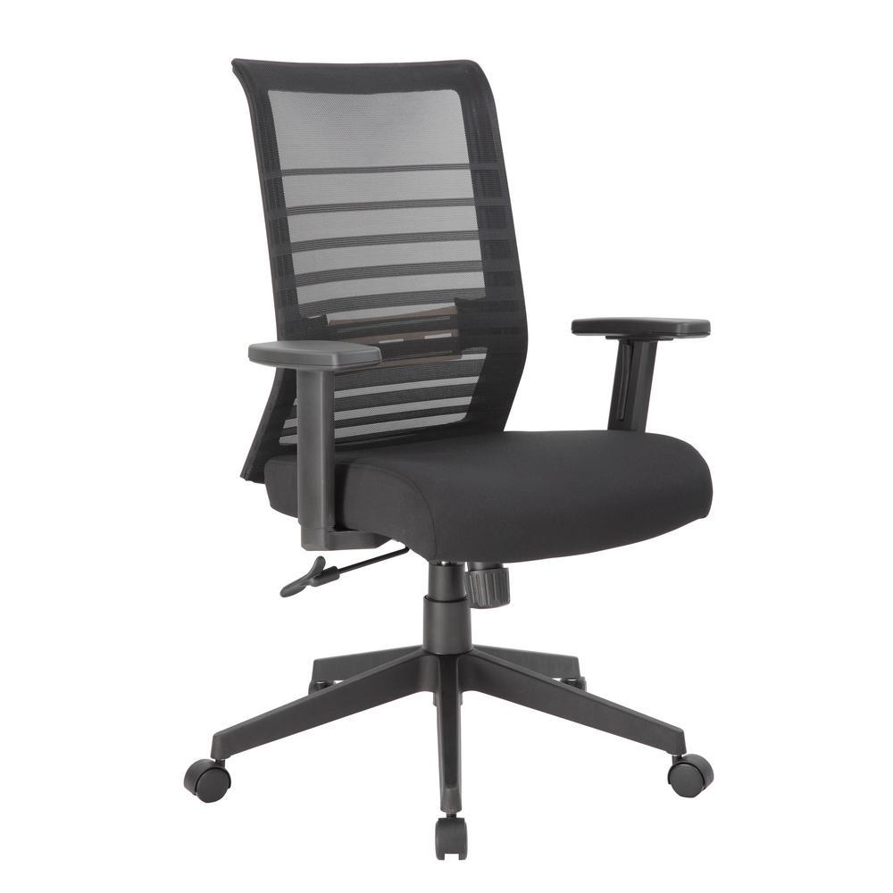 Black Executive Mesh Back Desk Chair Adj Arms