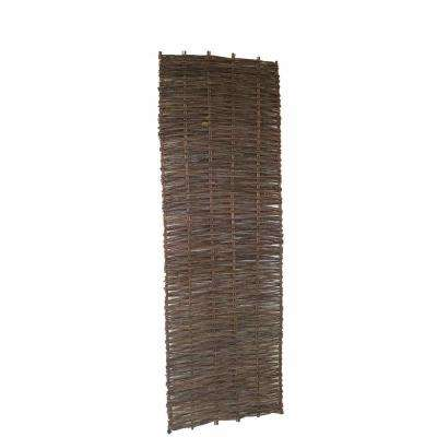 2 ft. W x 6 ft. H Willow Woven Hurdle Garden Fence Panel (2-Pack)