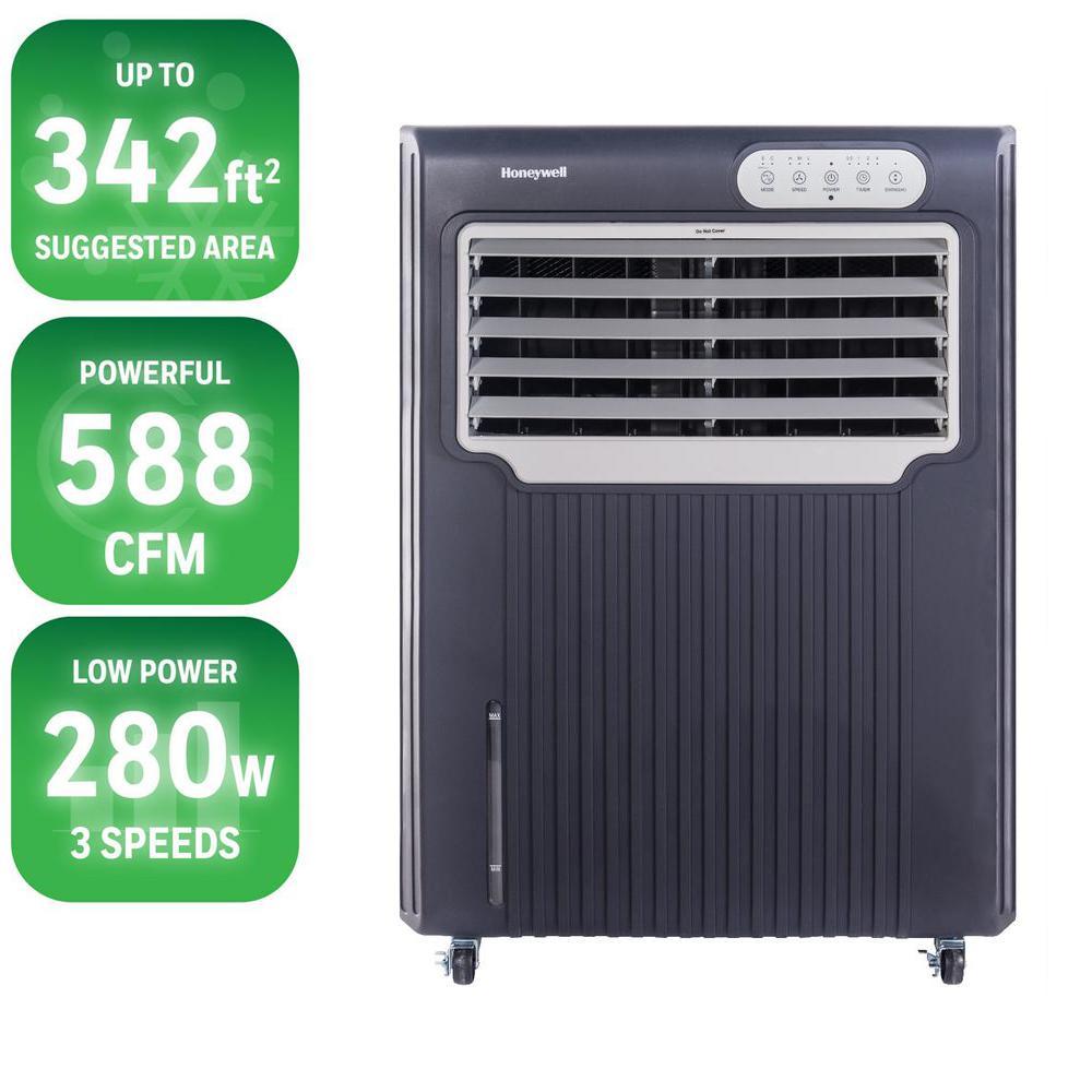 Portable Evaporative Coolers Home Depot : Honeywell cfm speed portable evaporative air cooler