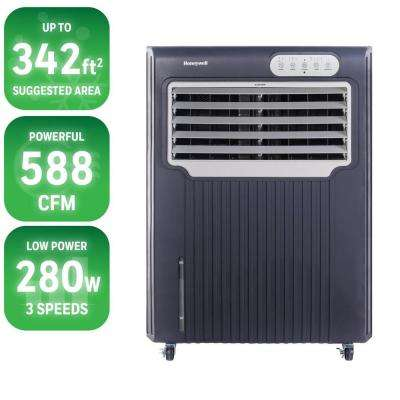 588 CFM 3-Speed Portable Evaporative Air Cooler for 342 sq. ft.