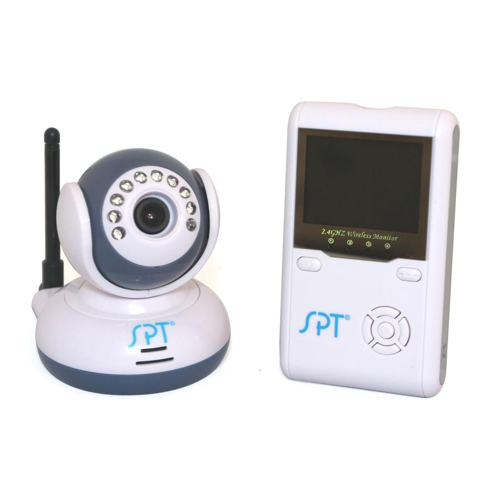 2.4 in. LCD Wireless Digital Baby Monitor Kit, White