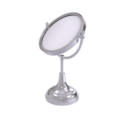8 in. x 4.8 in. Vanity Top Makeup Mirror 2X Magnification in Satin Chrome