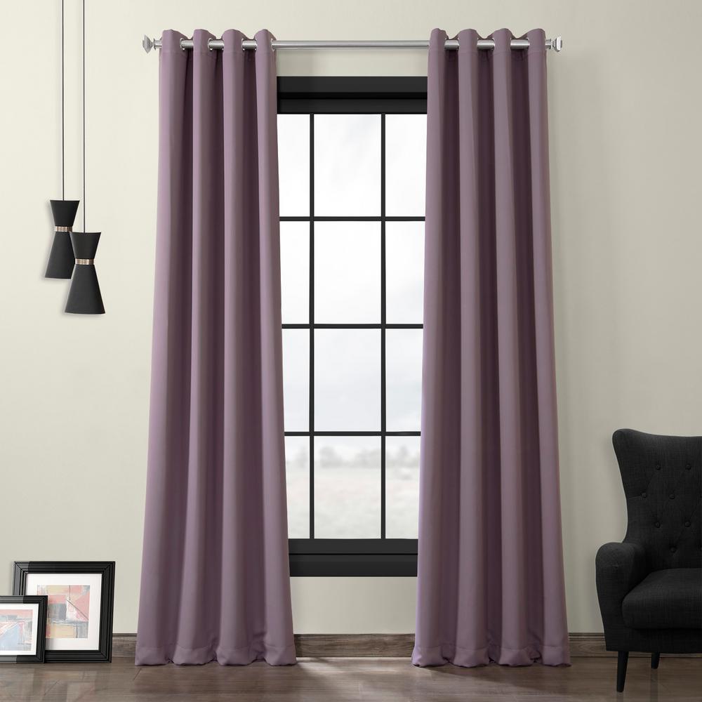Purple Rain Grommet Blackout Curtain - 50 in. W x 120 in. L