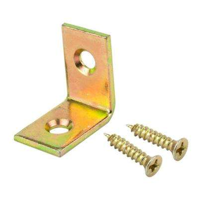 3/4 in. Satin Brass Corner Braces (4-Pack)