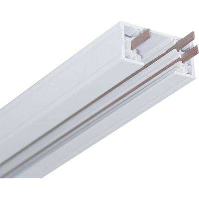 8 ft. White Linear Track Lighting Section/1-Circuit 1-Neutral 120-Volt Track System