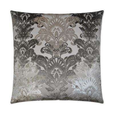 Schubert Platinum Feather Down 24 in. x 24 in. Standard Decorative Throw Pillow