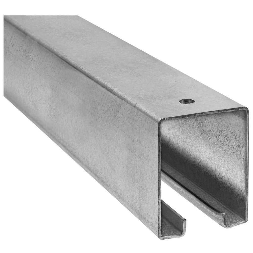 Galvanized 8 ft. Plain Box Rail