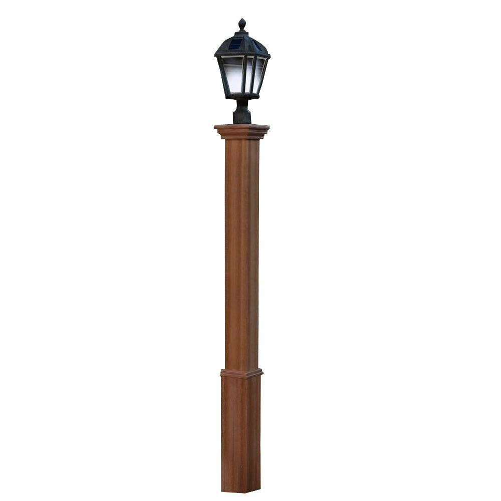 Fiberglass Light Post : New england arbors trinity in composite lamp post