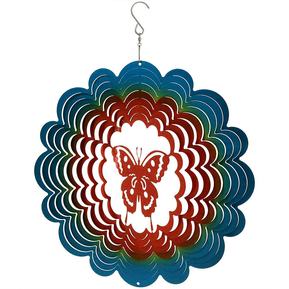 286df52f07 Sunnydaze Decor 12 in. Butterfly Whirligig Outdoor Wind Spinner-SHE ...