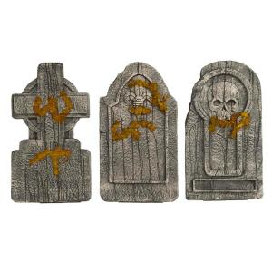 36 in. Graveyard Tombstones (Set of 3)