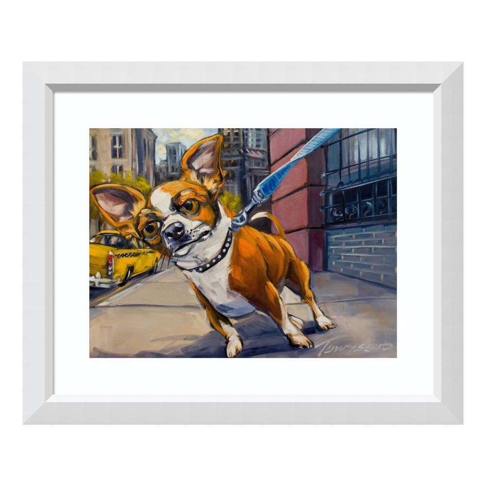 ''Fetch Cab'' by Connie R. Townsend Framed Wall Art