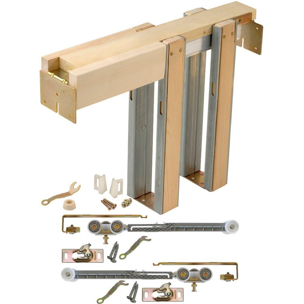 Soft Close And Open 1500 Series 28 In To 36 X 80 Universal Pocket Door Frame For 2x4 Stud Wall