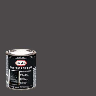 1 qt. Deepest Black Gloss Interior/Exterior Oil Paint