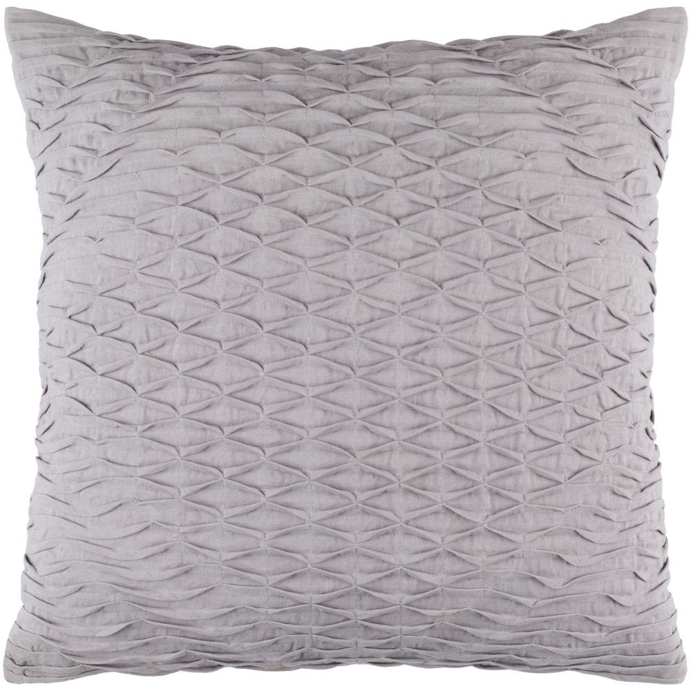 Arbutus Medium Gray Geometric Polyester 20 in. x 20 in. Throw Pillow