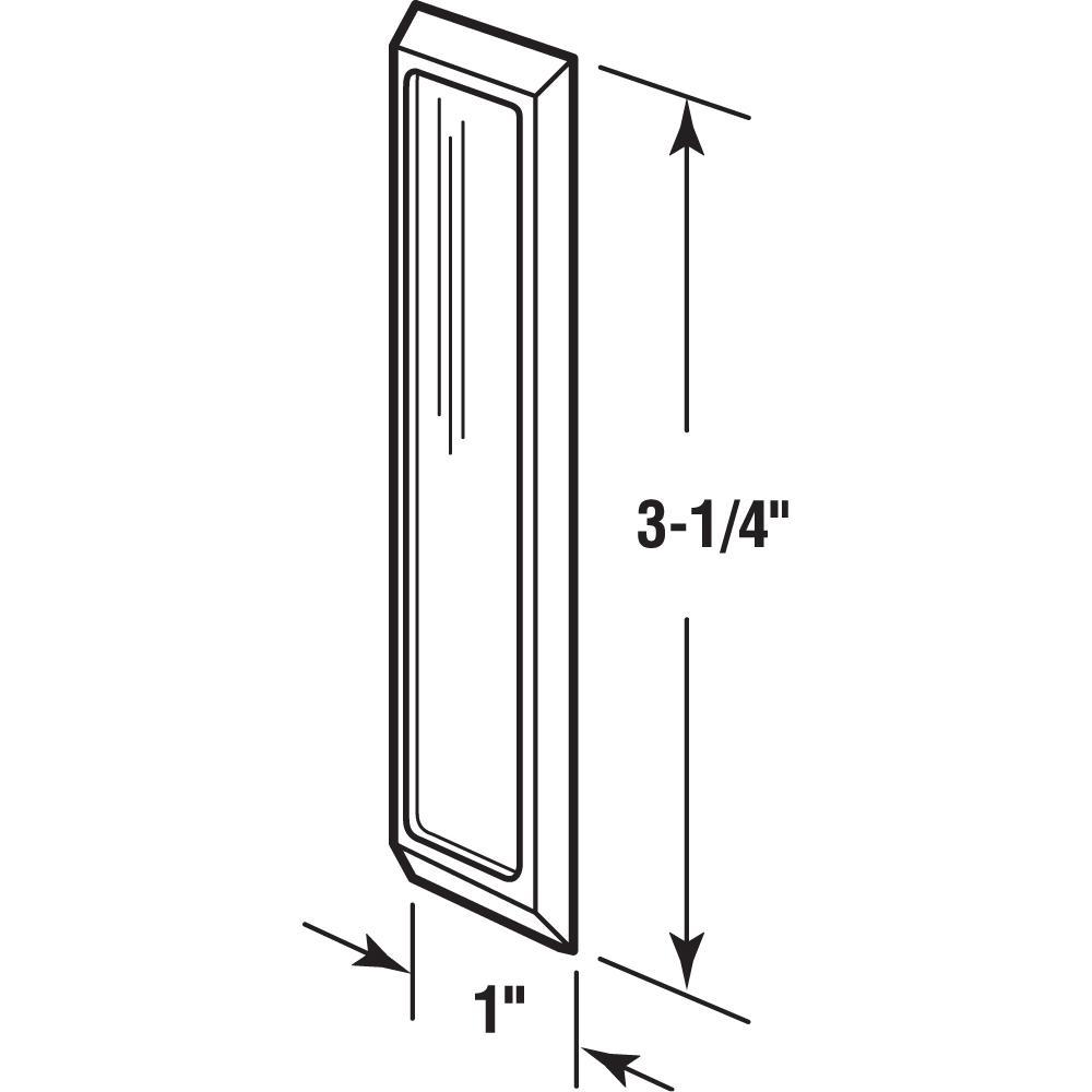 Black 4 Pieces Self-Stick Handle Self-Adhesive Sliding Window Sliding Door Handles Cupboard Wardrobe Pull Handle 11x3x1.4cm