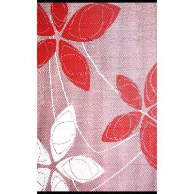 Alaska Red/White 4 ft. x 6 ft. Outdoor Reversible Area Rug