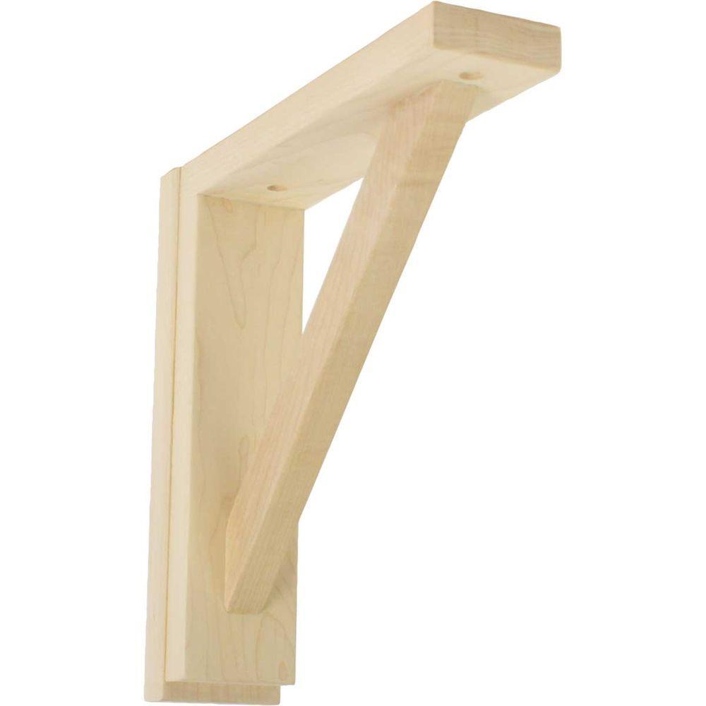 2-1/2 in. x 10-3/4 in. x 10-1/4 in. Red Oak Traditional Shelf Bracket