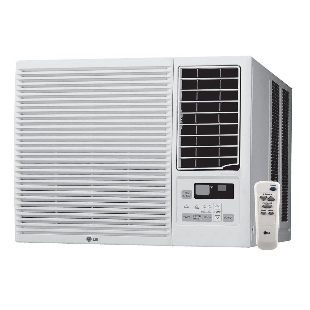 LG Electronics 7,000 BTU Window Air Conditioner with Cool, Heat and Remote