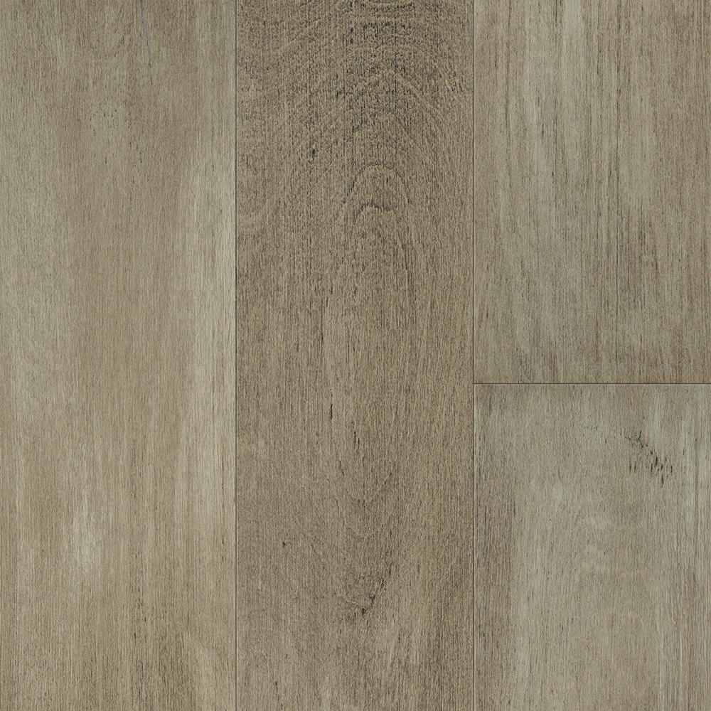 Waterproof Flooring Latte Light Birch 6.5 mm T x 6.5in.W x 48in.L Click Engineered Hardwood Flooring (21.67 sq.ft./case)