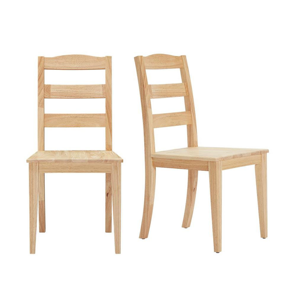 StyleWell Unfinished Wood Chair with Ladder Back (Set of 2) (17.72 in. W x 36.77 in. H) was $149.0 now $89.4 (40.0% off)
