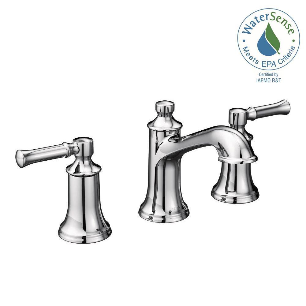 MOEN Dartmoor 8 in. Widespread 2-Handle Bathroom Faucet in Chrome ...