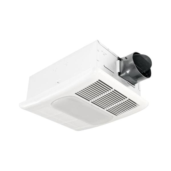 Delta Breez Radiance Series 80 Cfm Ceiling Bathroom Exhaust Fan With Light And Heater Rad80l The Home Depot