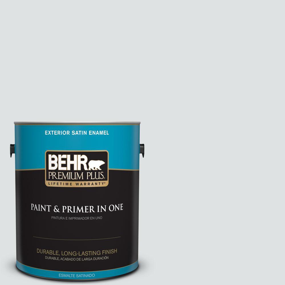 1-gal. #W-F-520 Ash White Satin Enamel Exterior Paint