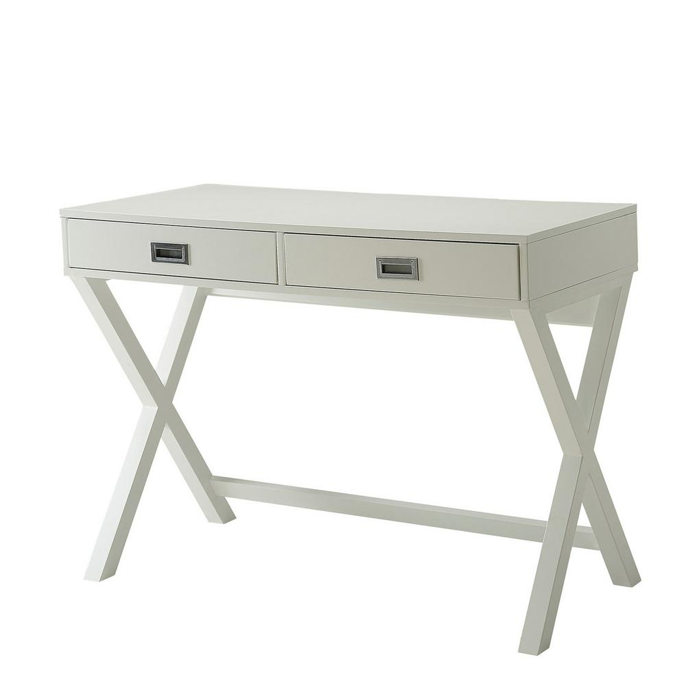 Designs2Go White Landon Desk with Drawers