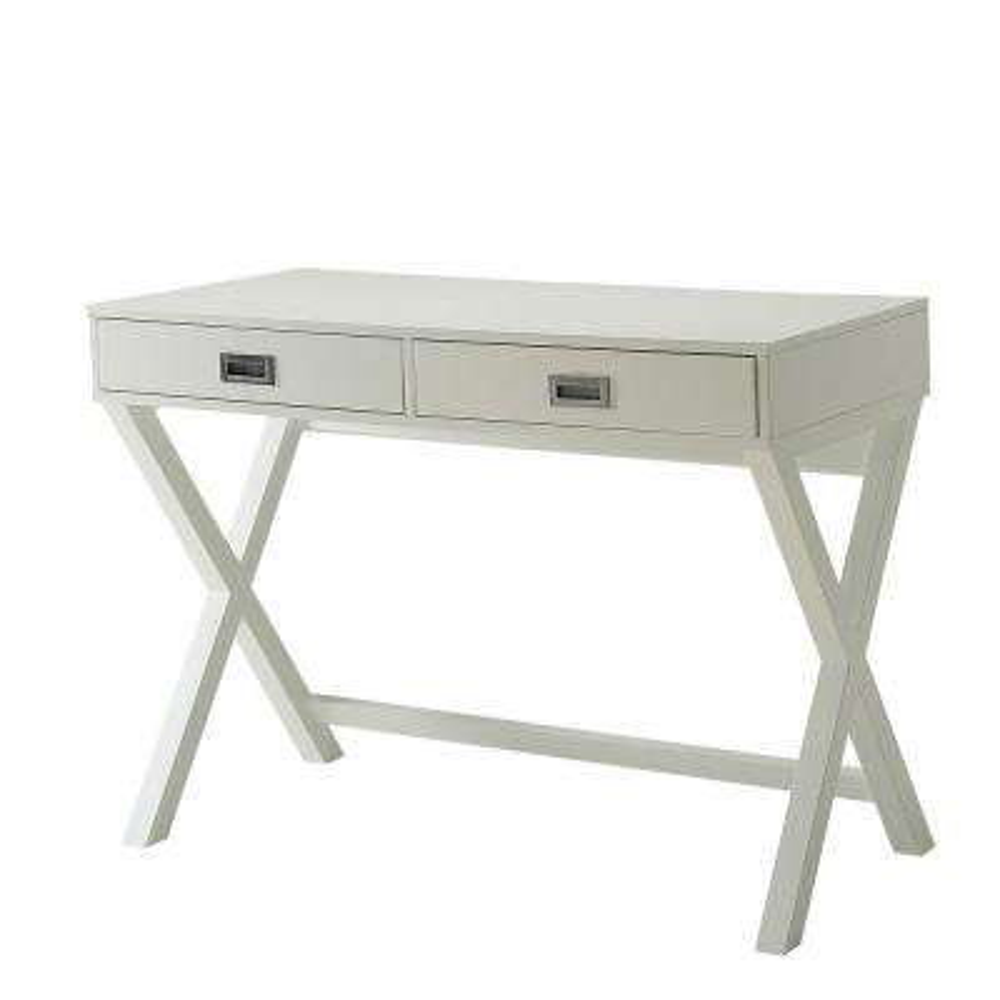 Designs2Go White Landon Desk with Drawers