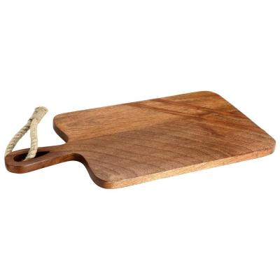 Paddle Shaped Wooden Cutting Board with Tied Rope
