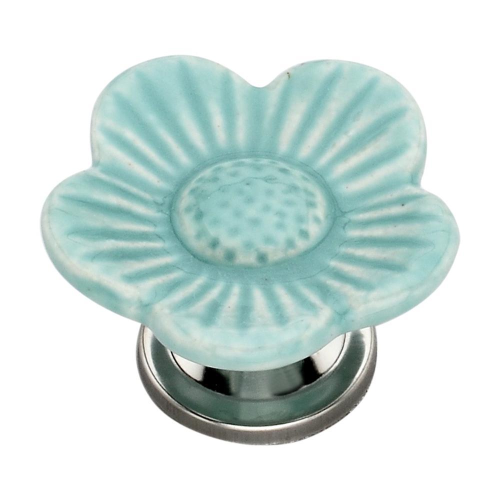 Poppy 1.93 in. Sky Blue Cabinet Knob