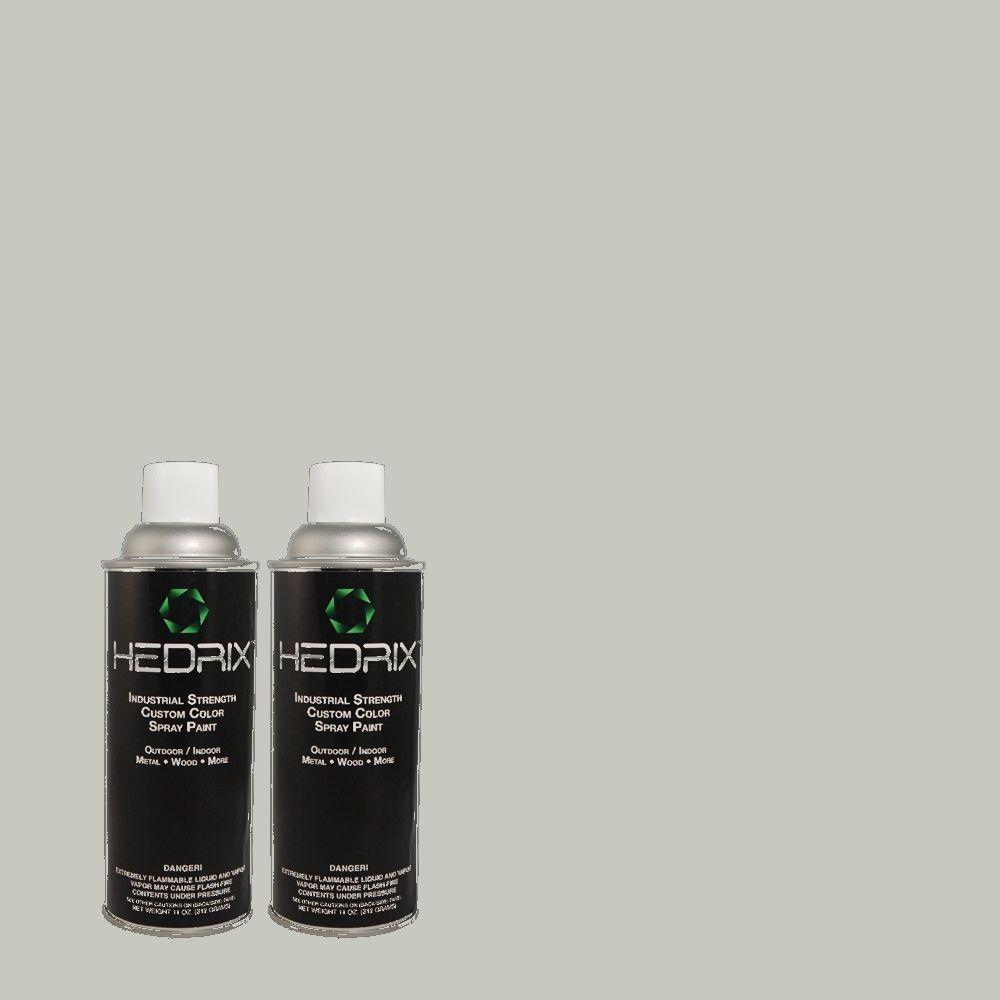 Hedrix 11 oz. Match of PPU12-10 Misty Morn Flat Custom Spray Paint (8-Pack)