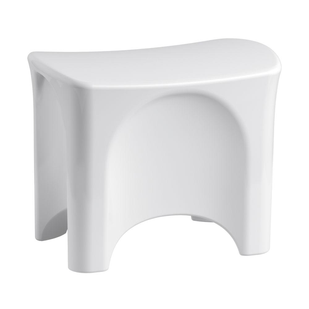 Ensemble 13-1/8 in. x 18-9/16 in. Freestanding Shower Seat in White