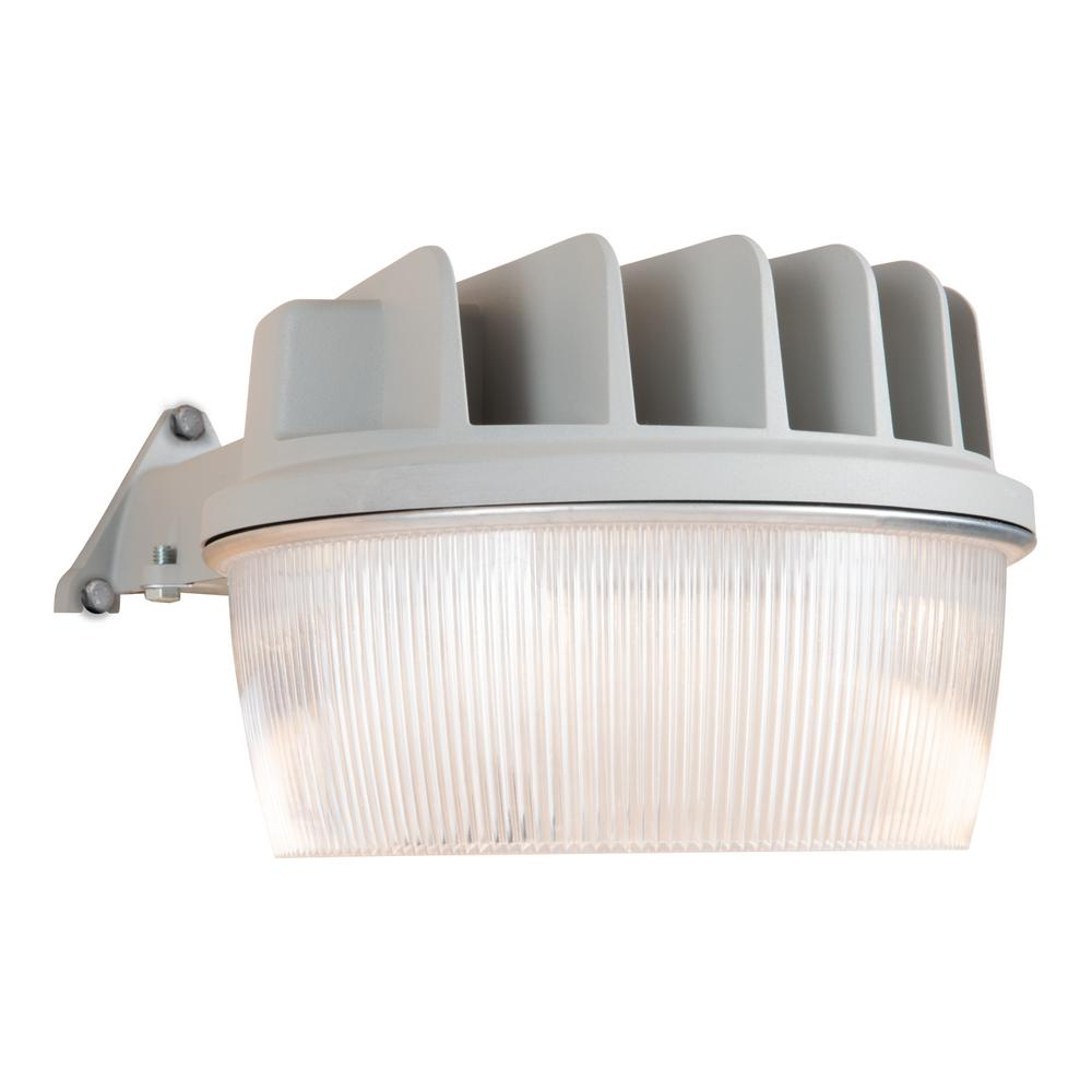 Dusk To Dawn Mercury Vapor Light: Halo 30-Watt Grey Outdoor Integrated LED Dusk To Dawn