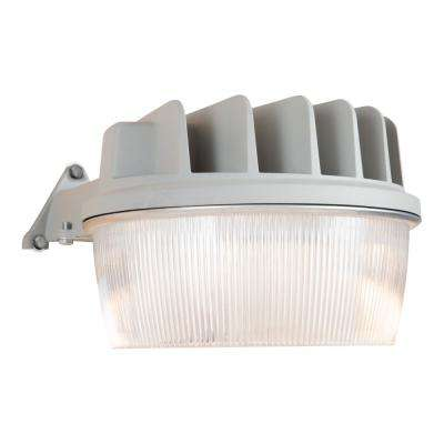 30-Watt Grey Outdoor Integrated LED Dusk to Dawn Security Area Light with Integral Photo Control Sensor