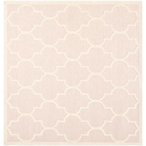 cambridge light pinkivory 8 ft x 8 ft square area rug - Square Area Rugs