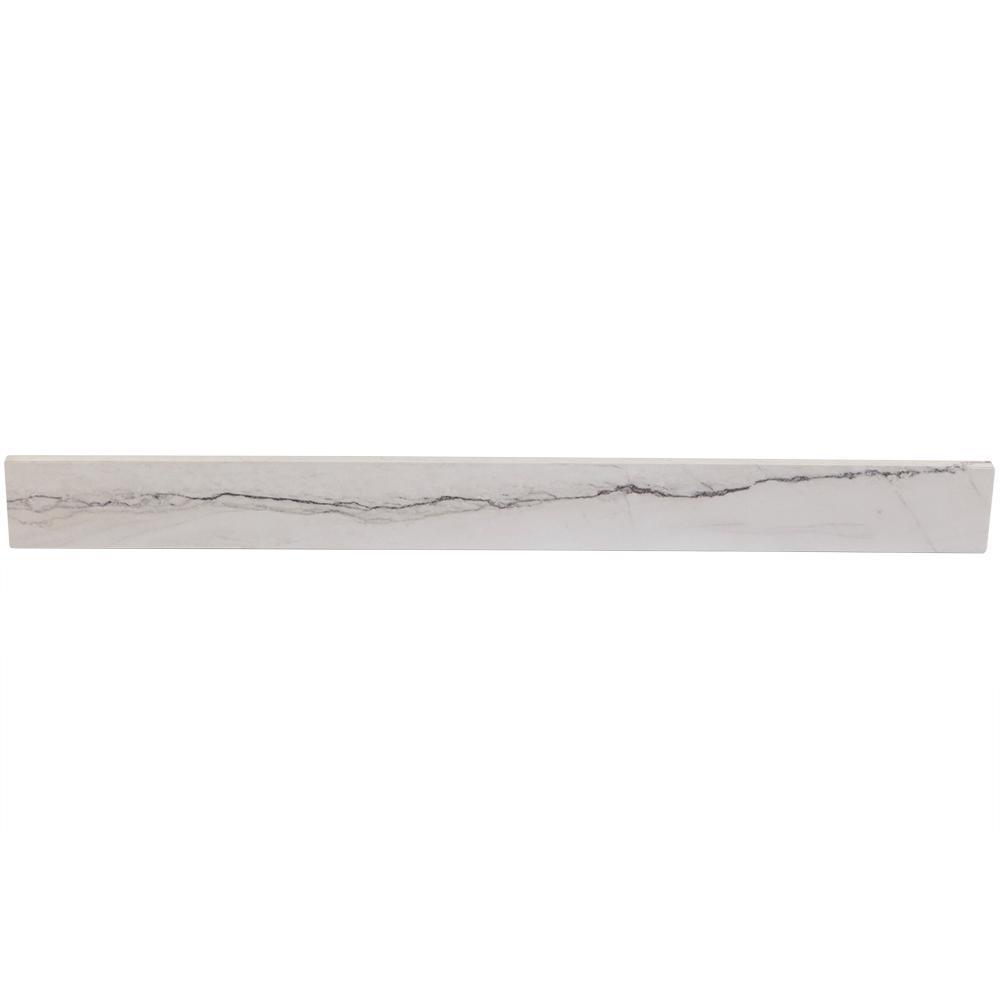 37 in. Stone Effects Backsplash in Gray Stone