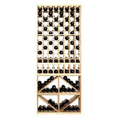 160-Bottle Pine Floor Wine Rack