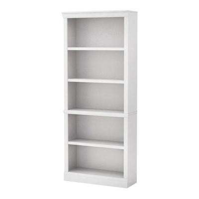 White Open 5 Shelf Bookcase