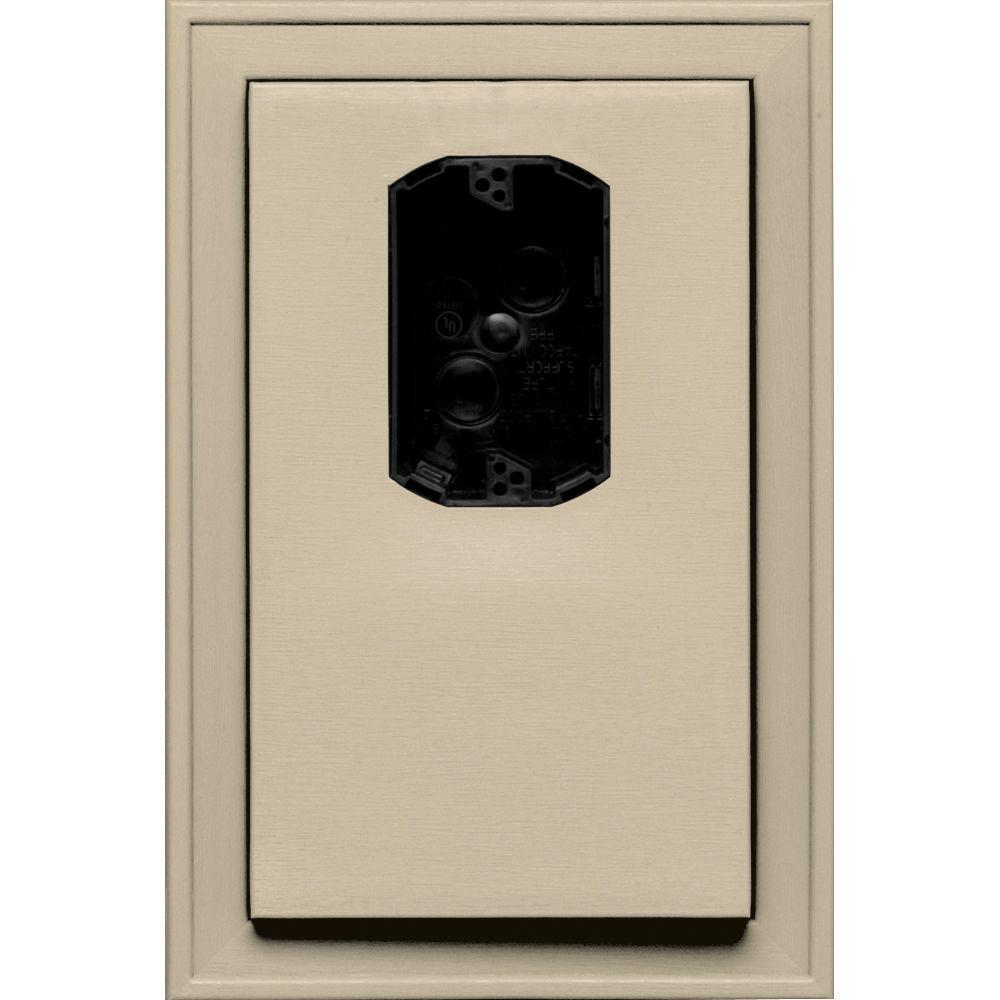 8.125 in. x 12 in. #011 Sandalwood Jumbo Electrical Mounting Block