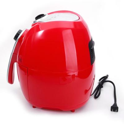 1500W Smart Multifunctional Electric Air Fryer Set with Adjustable Temperature & Time Red