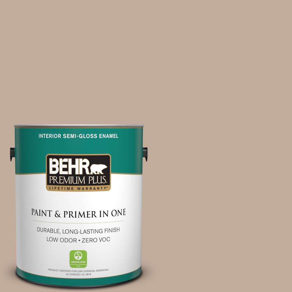 BEHR Premium Plus 1-gal. #PWL-87 Fall Mood Zero VOC Semi-Gloss Enamel Interior Paint