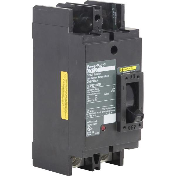PowerPact 100 Amp 25kA 2-Pole Q-Frame Molded Case Circuit Breaker