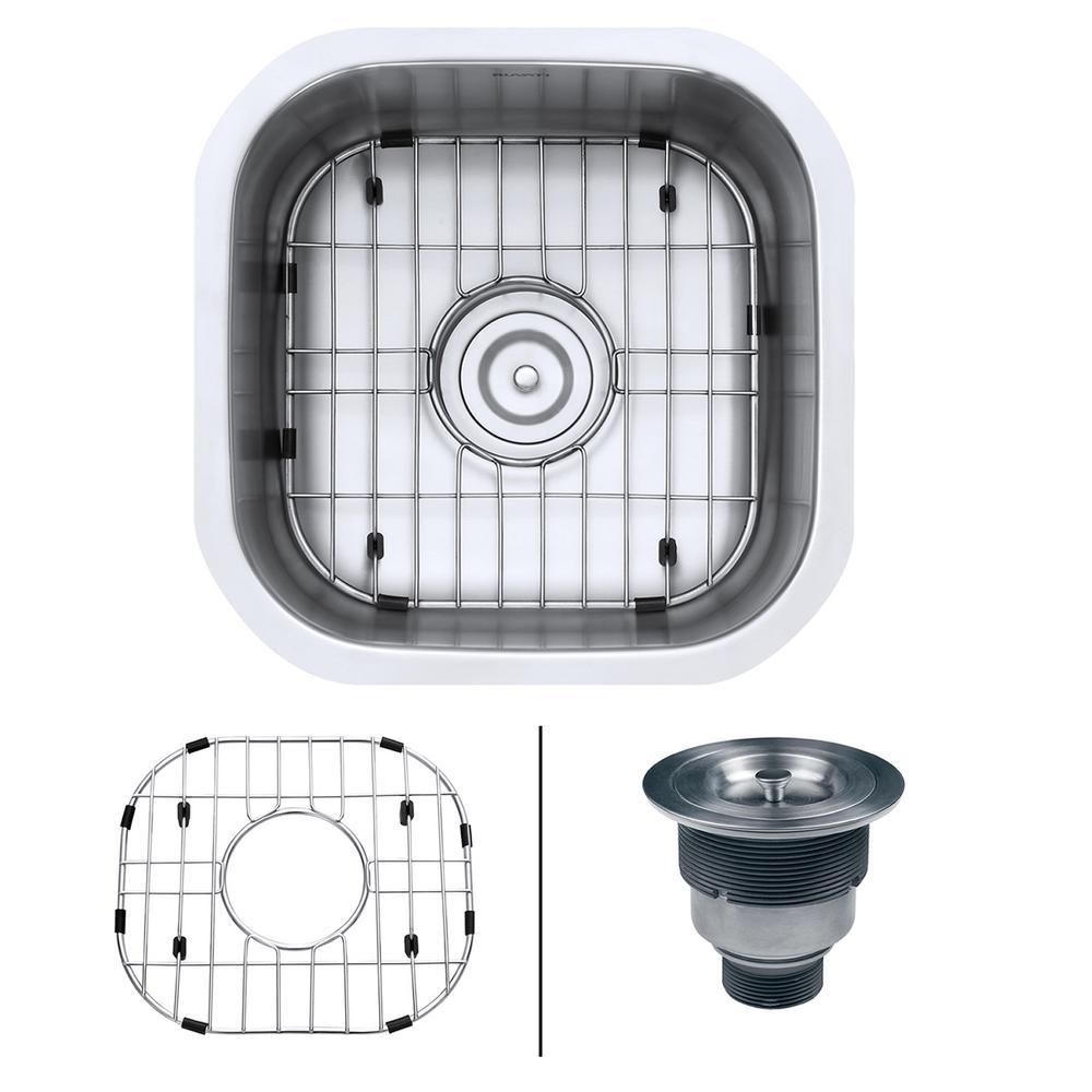 16 Gauge Undermount Kitchen Sink Ruvati undermount stainless steel 16 in x 16 in 16 gauge kitchen ruvati undermount stainless steel 16 in x 16 in 16 gauge kitchen bar workwithnaturefo